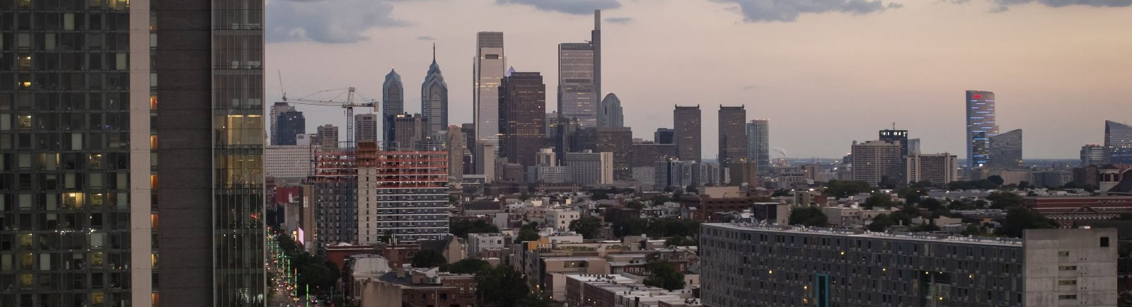 The Philadelphia skyline as seen from North Broad Street