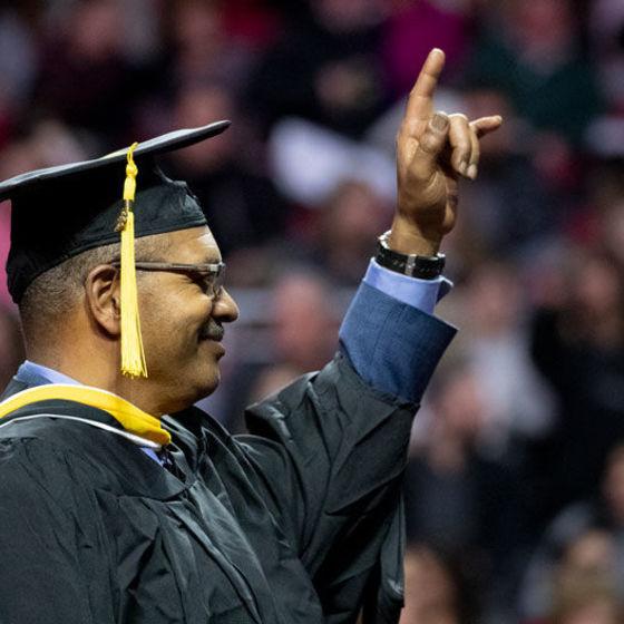 Jeff Chapman at graduation
